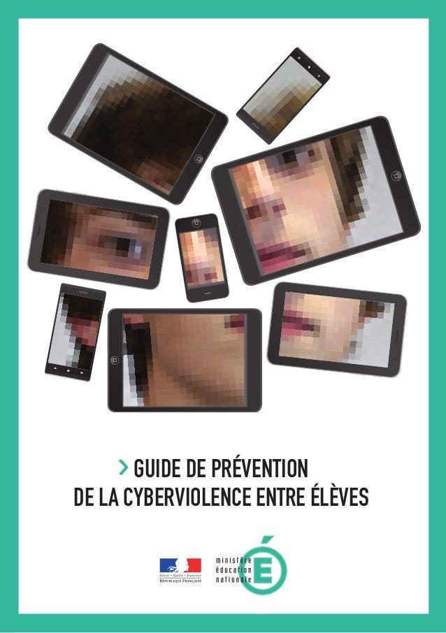 GUIDE DE PRÉVENTION DE LA CYBERVIOLENCE ENTRE ÉLÈVES