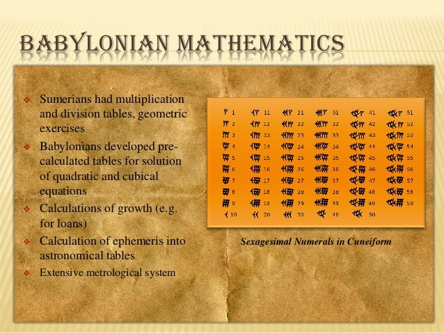 the history of babylonian mathematics The history of babylonian mathematics the history of ancient babylonia is really long, but this essay is a short and to the point summery of the entire history the history of babylonia started near the end of the year 2000 bc, when invaders were attacking the sumer kingdom.