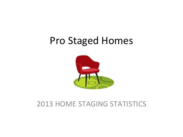 Pro Staged Homes 2013 HOME STAGING STATISTICS