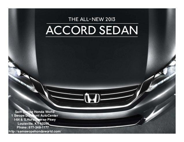 Sam Swope Honda >> 2013 Honda Accord Brochure Ky Louisville Honda Dealer