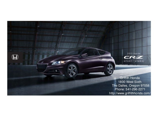 Honda Dealership Portland >> 2013 Honda Cr Z For Sale Or Portland Honda Dealer