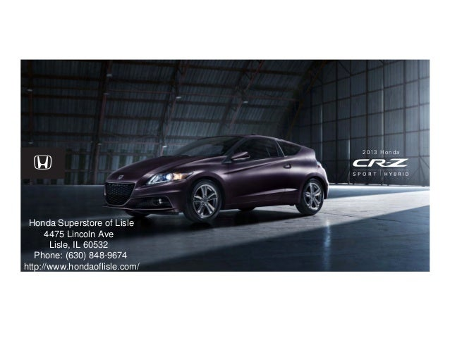 2013 honda cr z brochure chicago honda dealer for Chicago honda dealers
