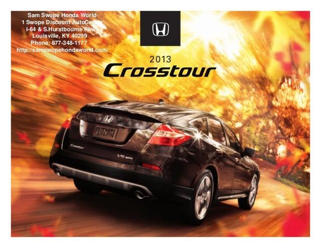 Honda Dealership Louisville Ky >> 2013 Honda Crosstour Brochure Ky Louisville Honda Dealer