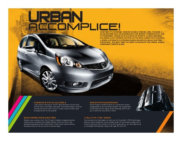 2013 honda fit brochure chicago honda dealer for Honda dealers in chicago