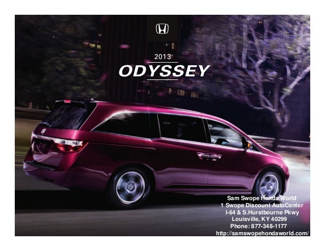 Sam Swope Honda >> 2013 Honda Odyssey Brochure Ky Louisville Honda Dealer
