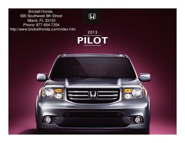 Honda Dealer Miami >> 2013 Honda Pilot For Sale Fl Honda Dealer Miami