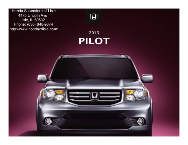 2013 Honda Pilot Brochure Chicago Honda Dealer