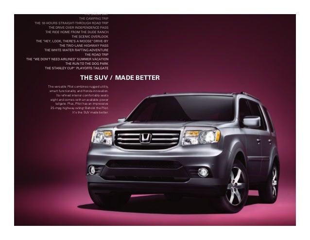 2013 Honda Pilot Brochure