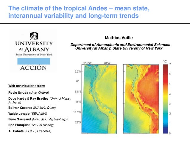 Mathias Vuille Department of Atmospheric and Environmental Sciences University at Albany, State University of New York The...