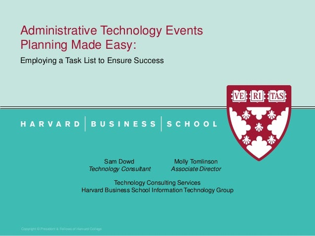 administrative technology event planning made easy 2013 harvard it s