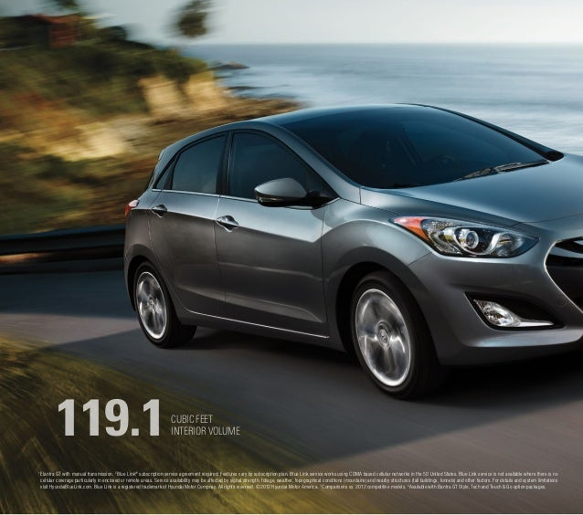 """2013 ELANTRA GT THE NEW ELANTRA GT: 5-DOORS. MORE FUN. You don't call your new car a """"GT"""" without some justification. Afte..."""