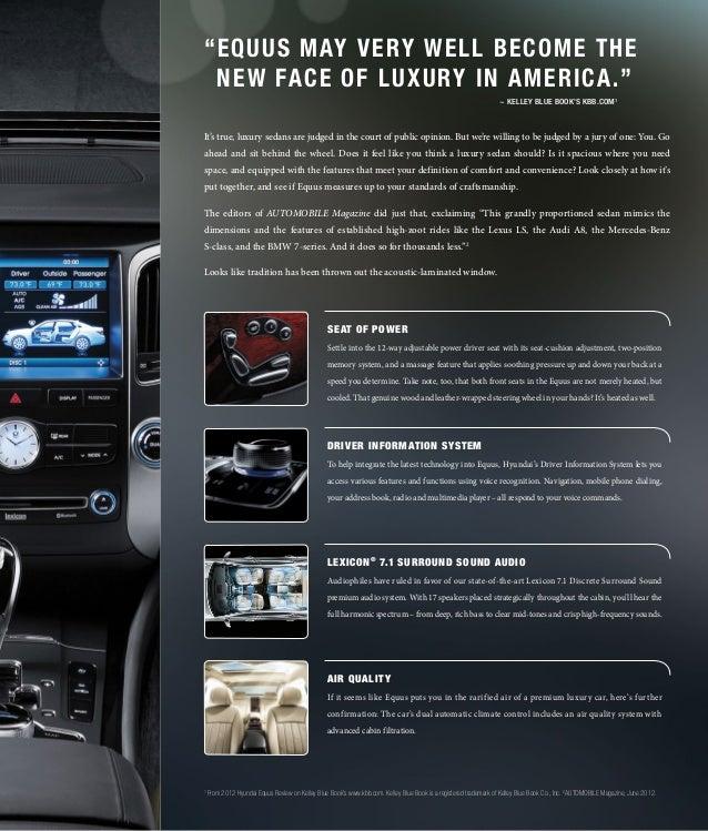 2013 Hyundai Equus Brochure Glenbrook Hyundai Happy Car