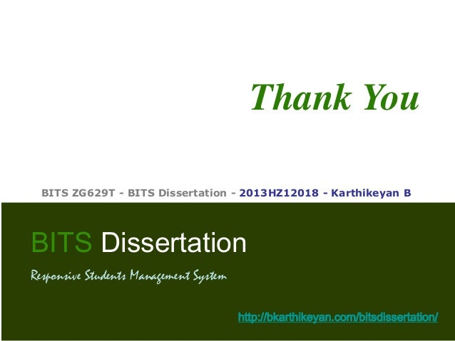 dissertation final presentation A short guide to writing your final year project report or msc dissertation february 2011 typesetting rules for report presentation - 3 - 1 introduction this guide is meant to help you produce a good final year project report or msc dissertation.