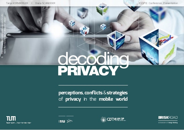 decoding PRIVACY Tanja KORNBERGER I Diana SCHNEIDER  ICED'13 Conference Presentation BRISKROAD ambassadors of de...