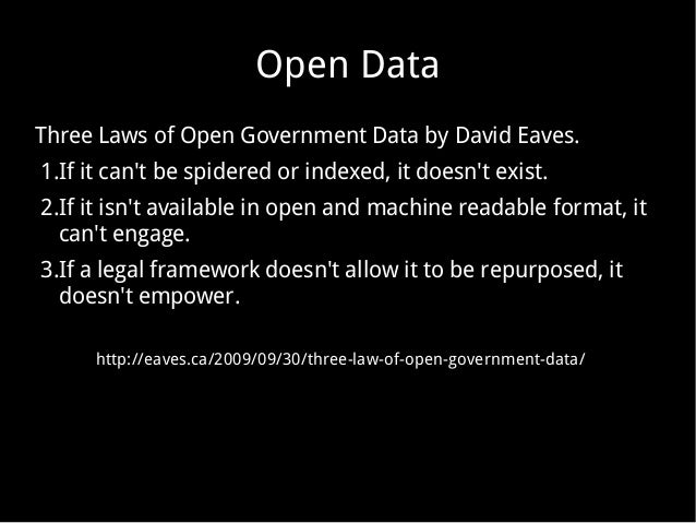 how to use open data