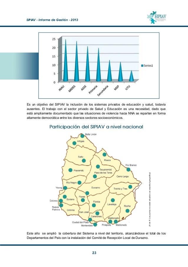 SIPIAV - Informe de Gestión - 2013  24 Nuevos espacios para reparación de daño EnArtigas y Bella Unión, luego de un inte...