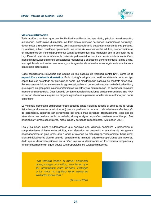SIPIAV - Informe de Gestión - 2013  30 Análisis de los datos De las 1319 situaciones de NNA registradas en el SIPI, se t...