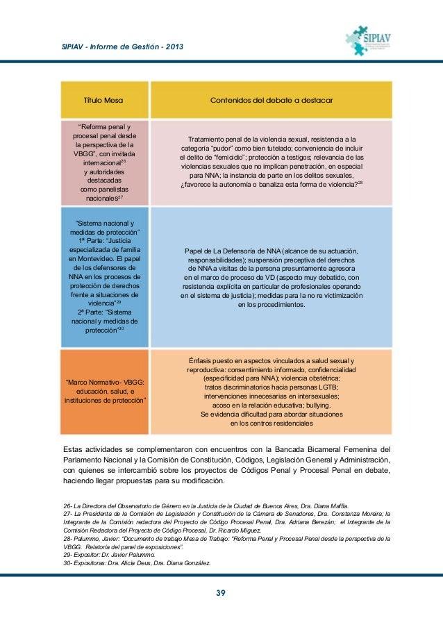 """SIPIAV - Informe de Gestión - 2013  40 31- """"Lineamientos para una política pública de respuesta a las situaciones de vio..."""