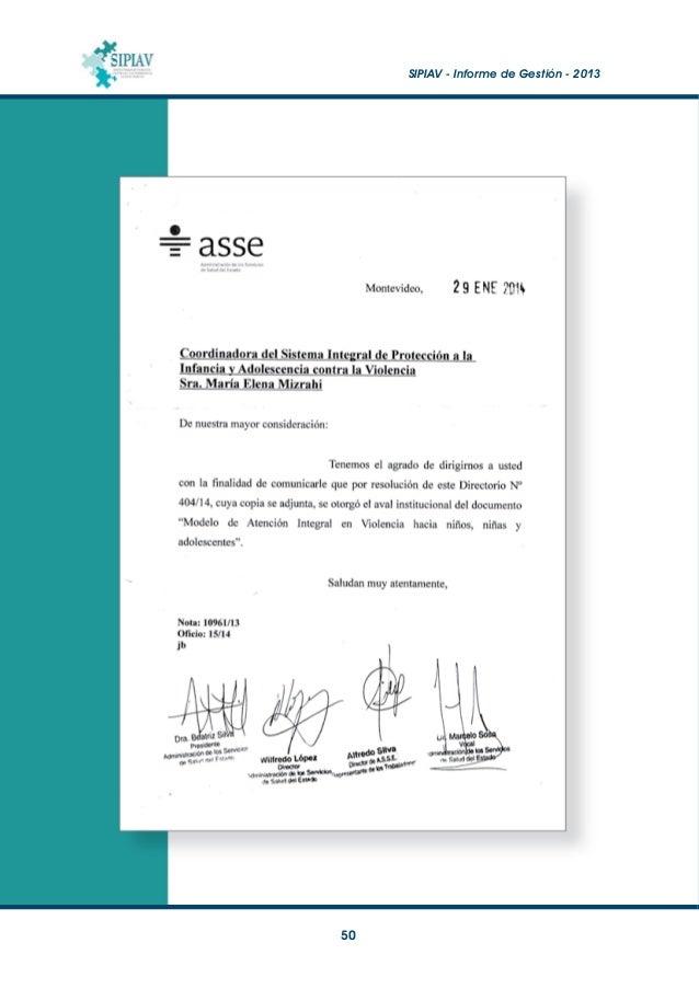 SIPIAV - Informe de Gestión - 2013  51