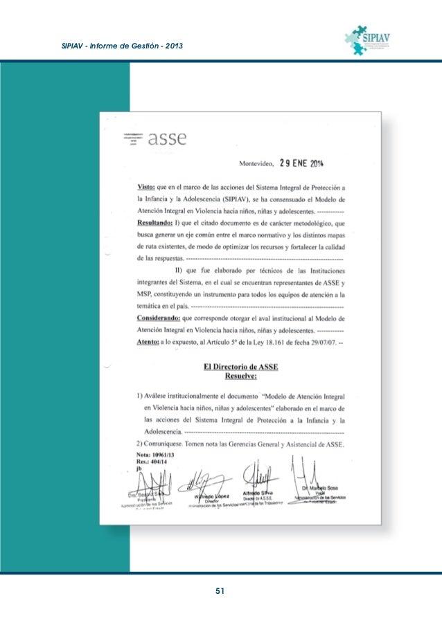 SIPIAV - Informe de Gestión - 2013  52 Anexo 4 Acuerdo atención en Artigas
