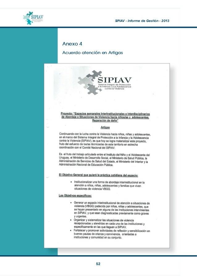SIPIAV - Informe de Gestión - 2013  53