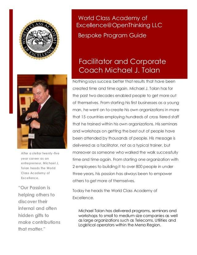 World Class Academy of                                 Excellence@OpenThinking LLC                                  Bespok...
