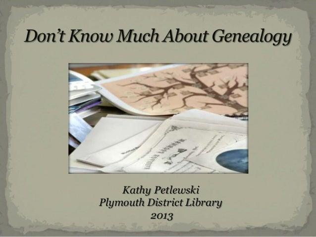 Kathy Petlewski Plymouth District Library 2013
