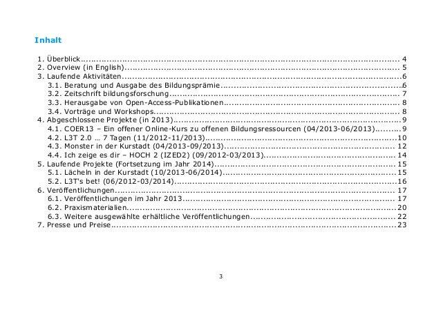 Jahresbericht 2013 - BIMS e.V. Slide 3