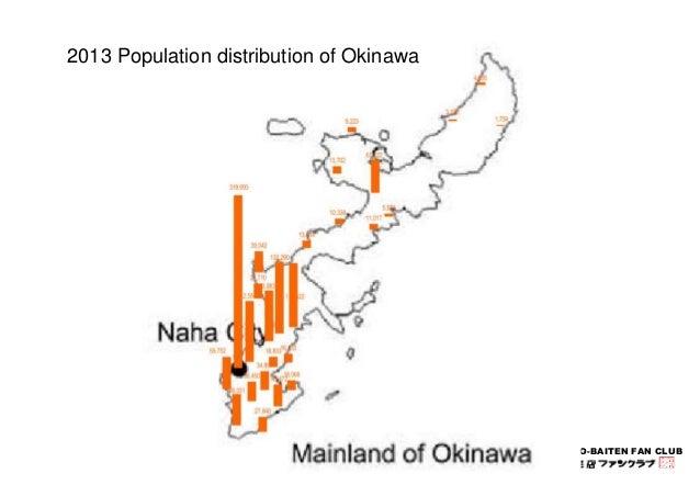 KYODO-BAITEN FAN CLUB  2013 Population distribution of Okinawa
