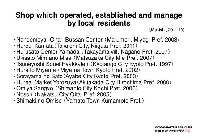 Shop which operated, established and manage  KYODO-BAITEN FAN CLUB  by local residents  (Makishi、2011.10)  ・Nandemoya -Oha...
