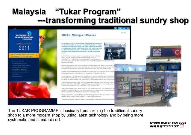 "KYODO-BAITEN FAN CLUB  Malaysia ""Tukar Program""  ---transforming traditional sundry shop  The TUKAR PROGRAMME is basically..."
