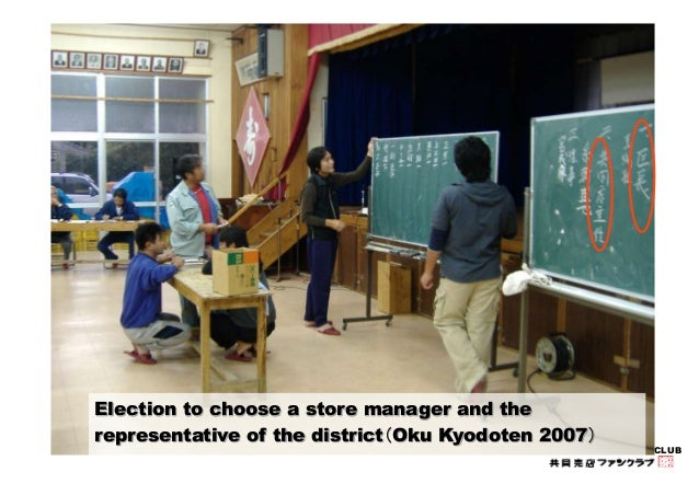 KYODO-BAITEN FAN CLUB  Election to choose a store manager and the  representative of the district(Oku Kyodoten 2007)
