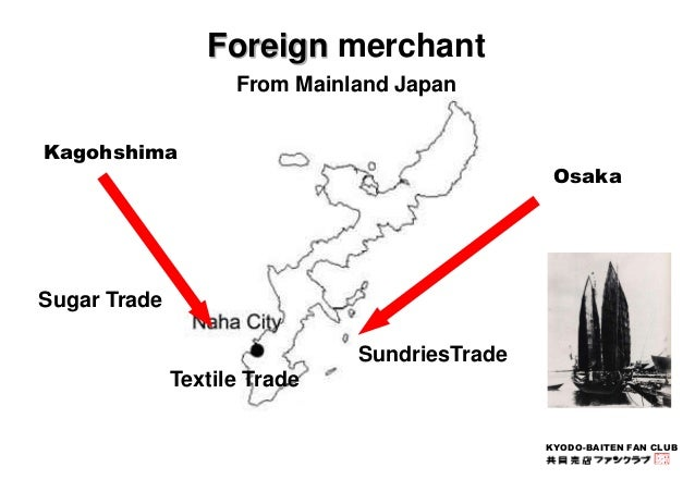 KYODO-BAITEN FAN CLUB  Foreign merchant  From Mainland Japan  Kagohshima  Osaka  Sugar Trade  Textile Trade  SundriesTrade