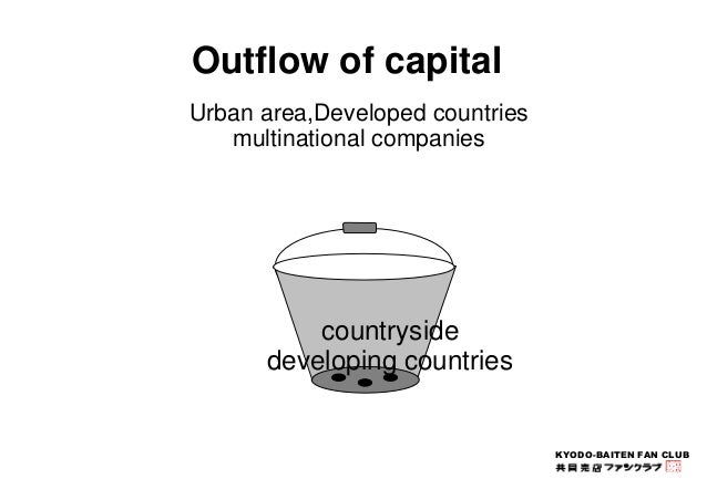 KYODO-BAITEN FAN CLUB  Outflow of capital  Urban area,Developed countries  multinational companies  countryside  developin...