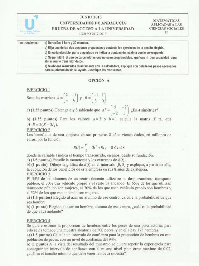 2013 Junio Pau Matemáticas Aplicadas A Las Ciencias Sociales Ii 19 0