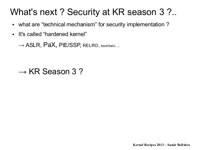 Kernel Recipes 2013 - Linux Security Modules: different formal concepts