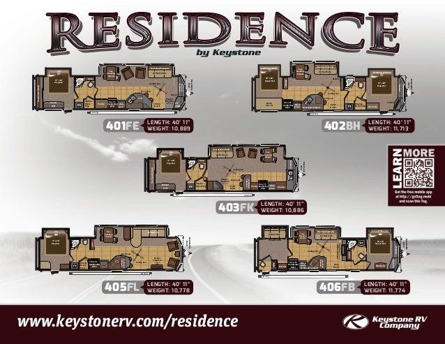 2013 Keystone Residence Destination Travel Trailer