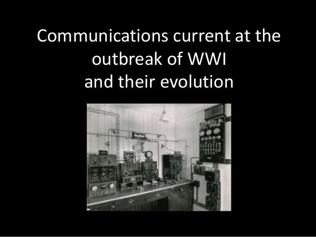 Communications current at the outbreak of WWI and their evolution