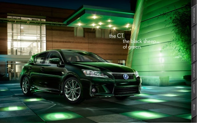 2013 Lexus CT Brochure KY | Louisville Lexus Dealer. PERFORMANCE DESIGN  CUSTOMIZATION INNOVATION GALLERY SPECS ...