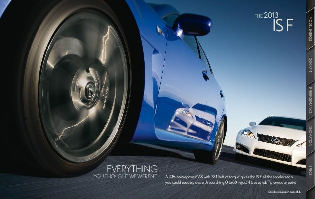 2013 Lexus IS Brochure KY | Louisville Lexus Dealer