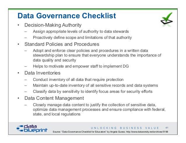 Data Ed Unlock Business Value Through Data Governance
