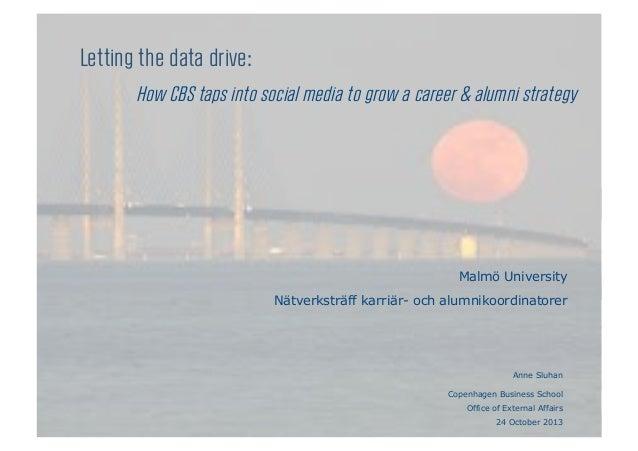 Letting the data drive: How CBS taps into social media to grow a career & alumni strategy  Malmö University Nätverksträff ...