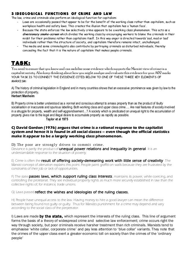2013 marxism handout worksheet complete – Criminal Thinking Worksheets