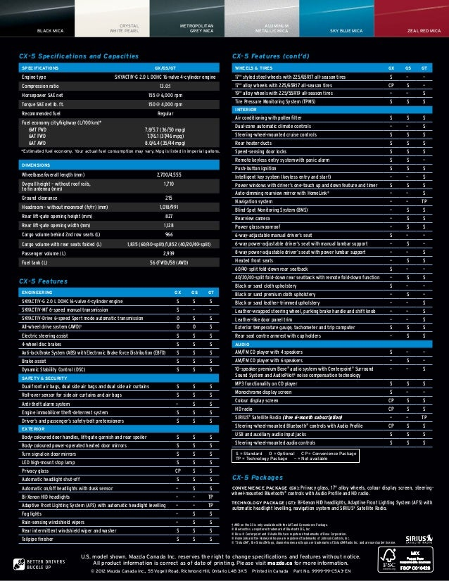 2013 Mazda Cx 5 Brochure Il Schaumburg Mazda Dealer