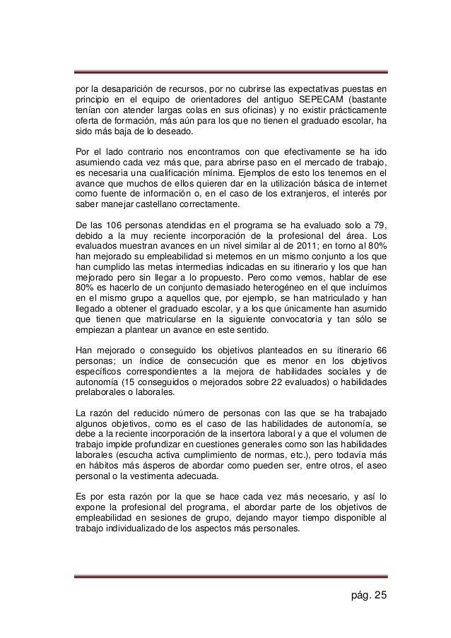 2013 memoria plis illescas plan local de integracion social for Oficina empleo illescas