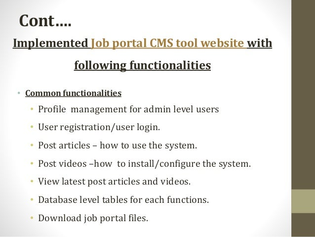 Open source CMS tool for web based job portal and recruitment system