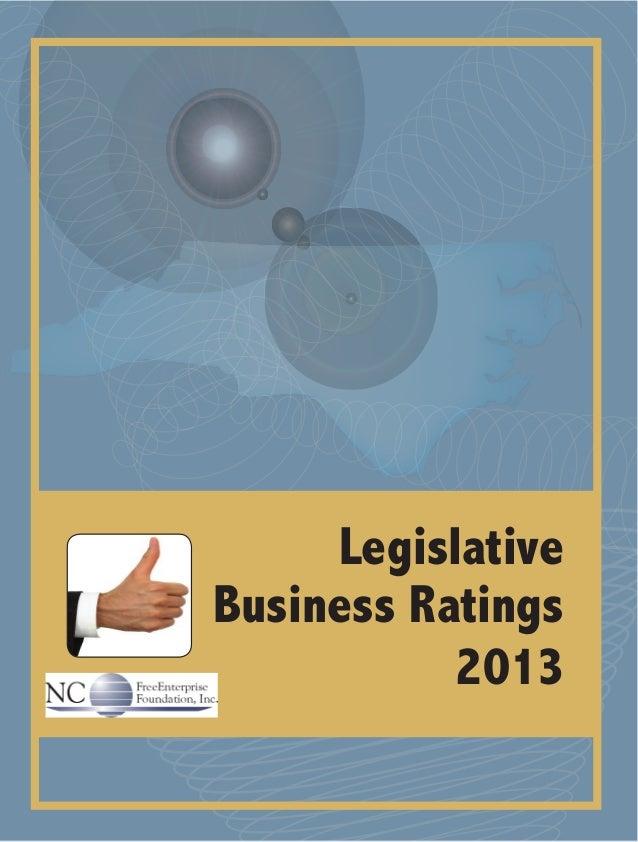 Legislative Business Ratings 2013