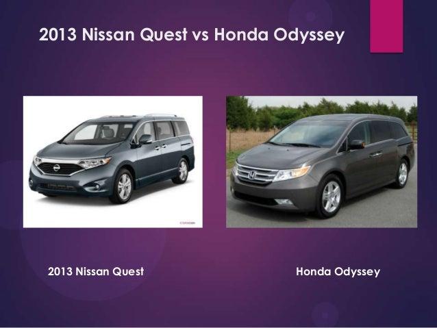 2013 Nissan Quest Vs Honda Odyssey CHERRY HILL NISSAN  WWW.CHERRYHILLNISSAN.COM; 2.
