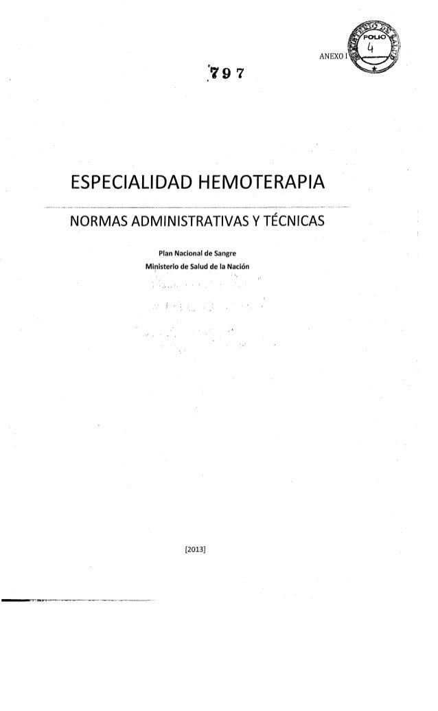 2013 normas tecnicas