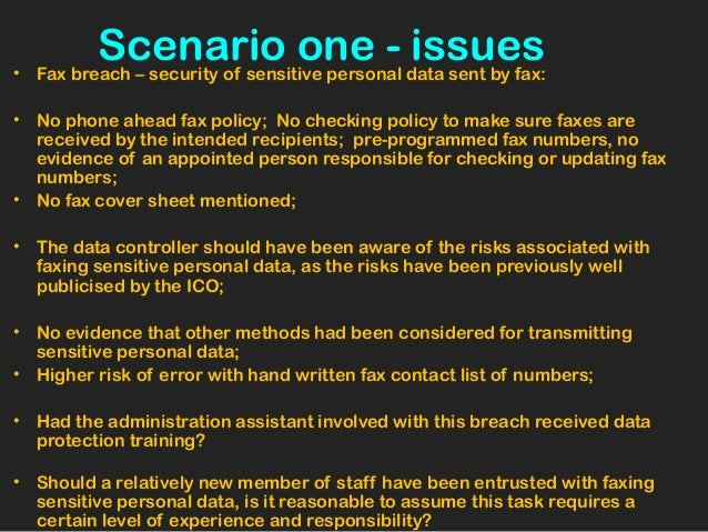 case scenario 1 security breach Patient data privacy and security plans case scenario 1 (security breach) the administration at st john's hospital takes pride in its sound policies.